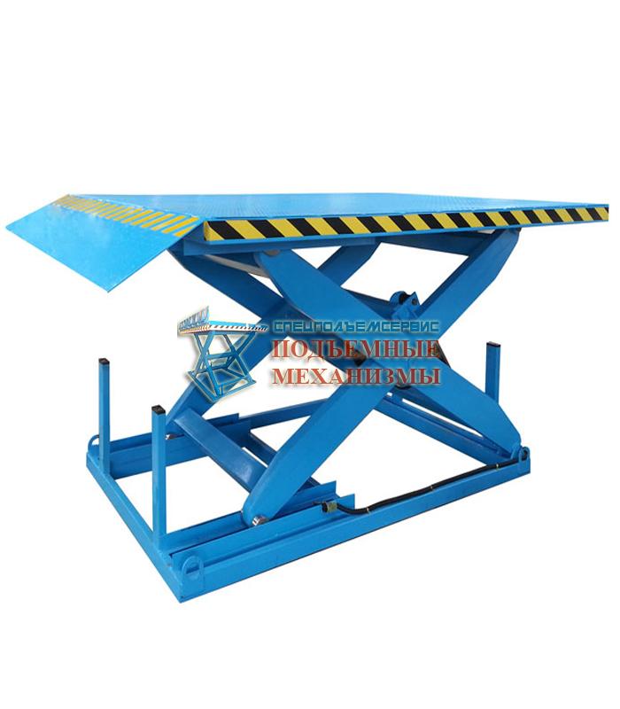Подъемный стол одноножничный