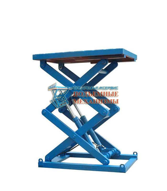 Двухножничный подъемный стол