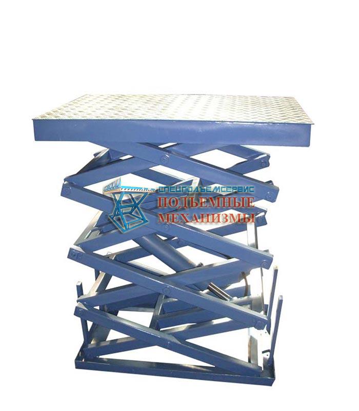 Подъемный стол четырехножничный