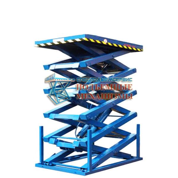 Подъемный стол пятиножничный