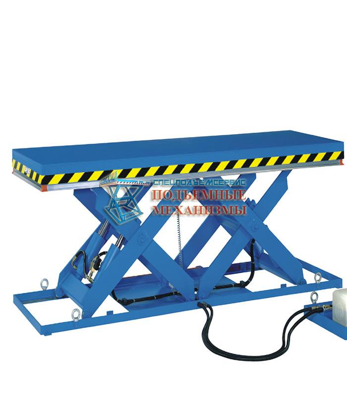 Подъемный стол с горизонтальными ножницами