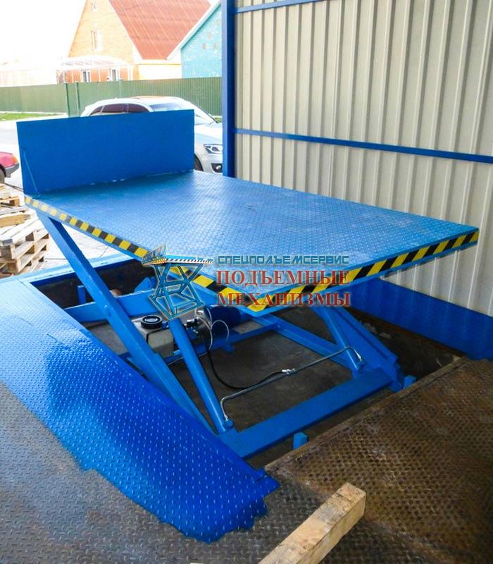 Подъемный стол с откидной аппарелью 2500 кг