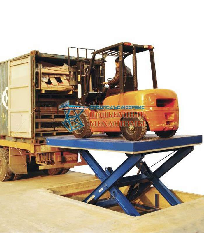 Гидравлический подъемный стол для погрузчика