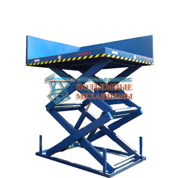 Подъемный стол для магазина 5000 кг, Н=3.5 м, платформа 4000х2000 мм