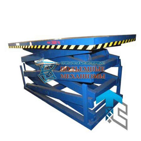 Подъемный стол для линии сортировки пиломатериалов