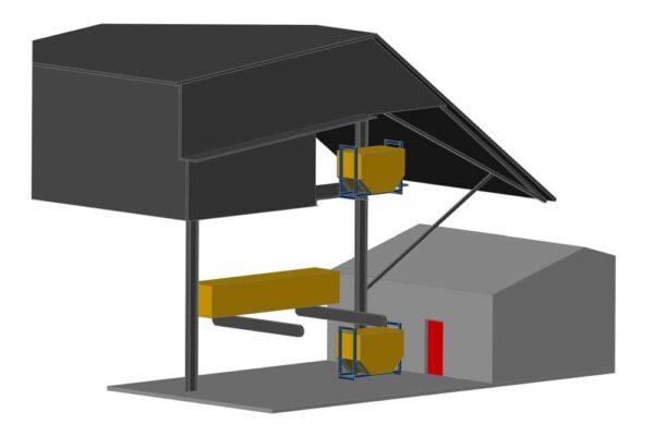 Рисунок №1 к ТЗ на подъемный стол для пиломатериалов