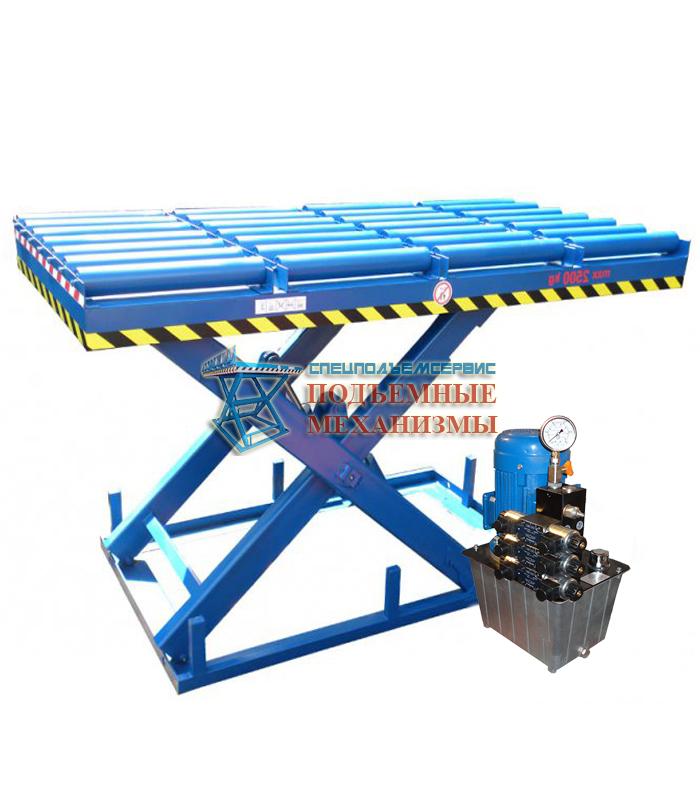 Подъемный стол с рольгангами