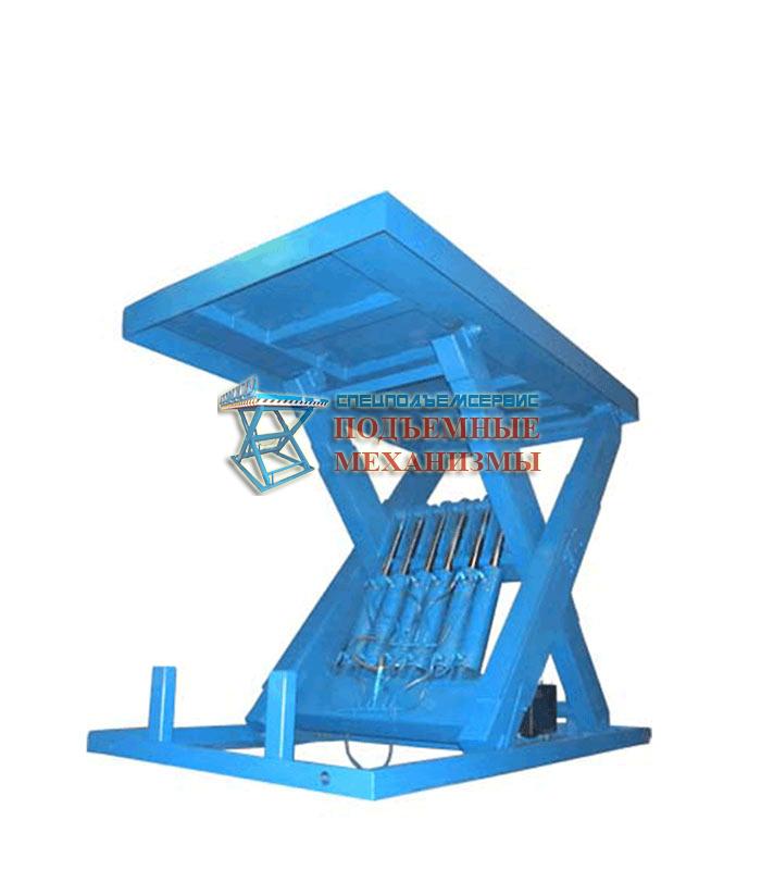 Усиленный гидравлический подъемный стол - подъем тяжелых грузов