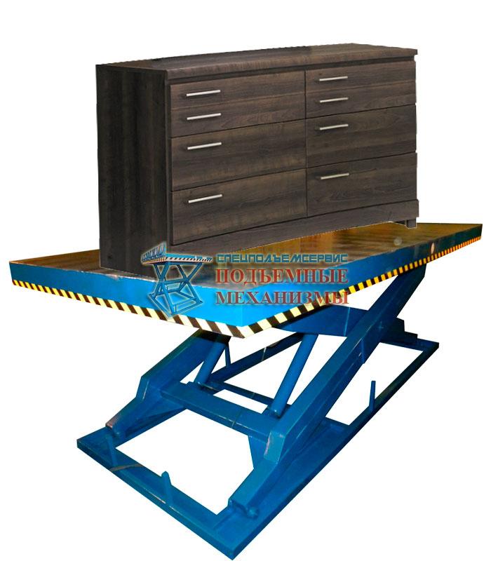 Подъемный стол для мебельной фабрики