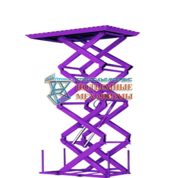 Подъемный стол для сетевого магазина МАГНИТ г/п 1000 кг, Н=3.5 м, 1500х1200 мм