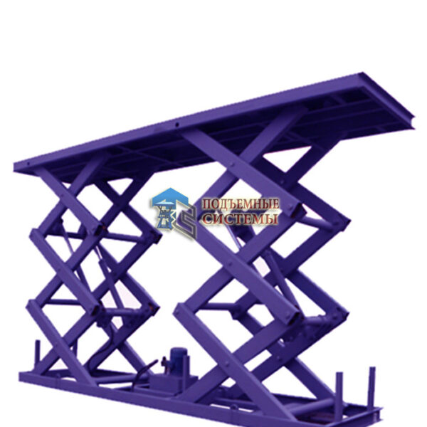 Комплексный многоуровневый гидравлический подъемный стол г/п 25 тонн