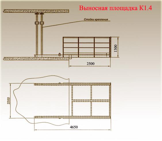 Схема выносной площадки К1.4