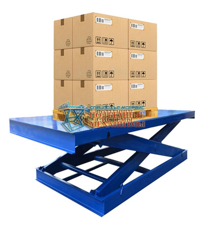 Гидравлический подъемный стол для склада